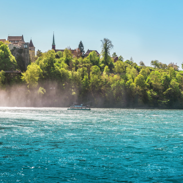 """The Rhine Fall on a sunny day"" stock image"