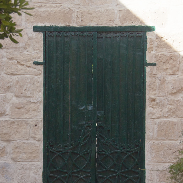 """Maltese Green Door"" stock image"