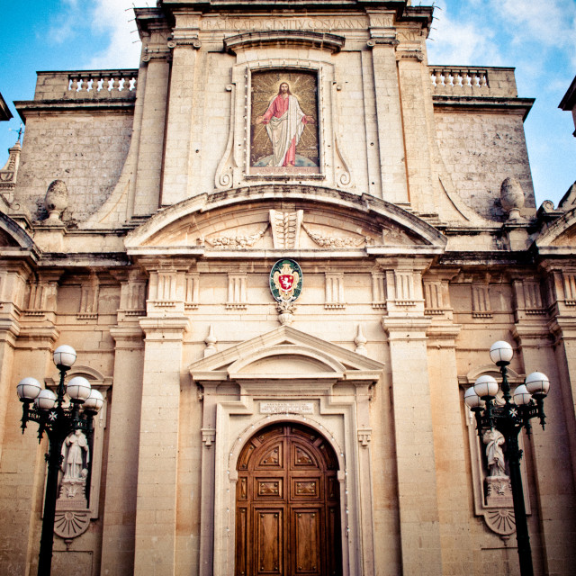 """Mdina Cathedral in Malta"" stock image"