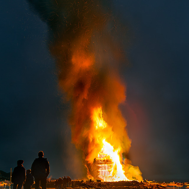 """Bonfire - Midsummer festivity in Alesund 2"" stock image"