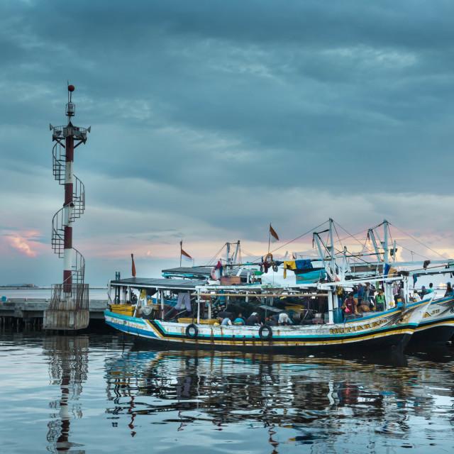 """Fisherman's sunrise"" stock image"