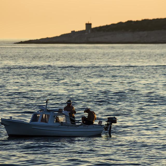 """Fishing evening"" stock image"