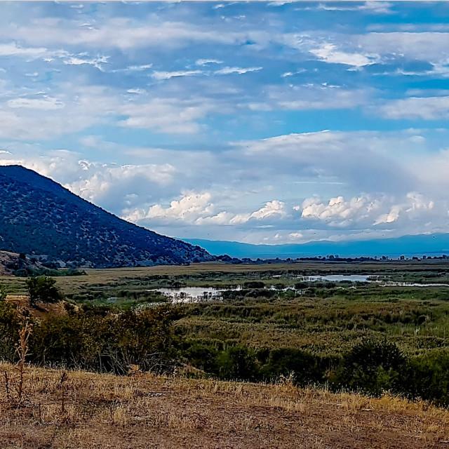 """Agios Achillios Panorama"" stock image"