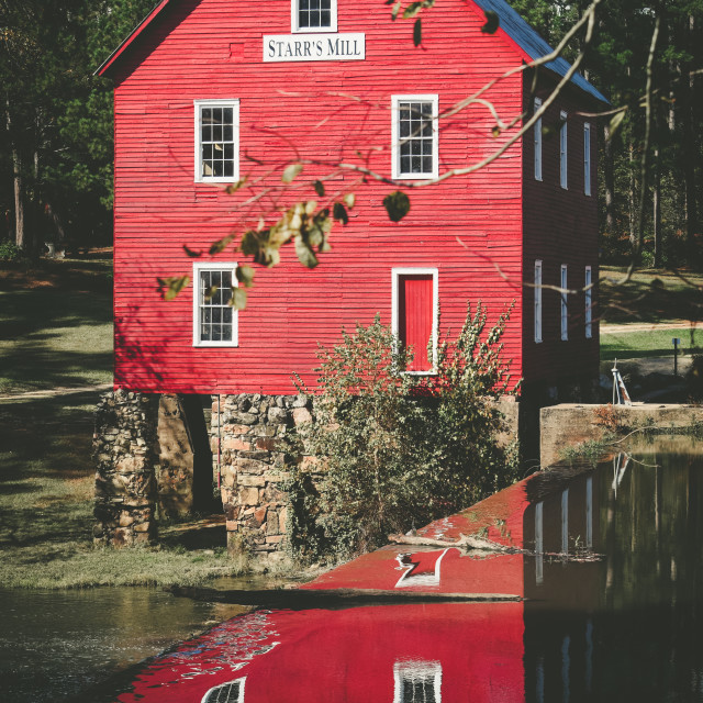 """Starr's Mill reflection"" stock image"