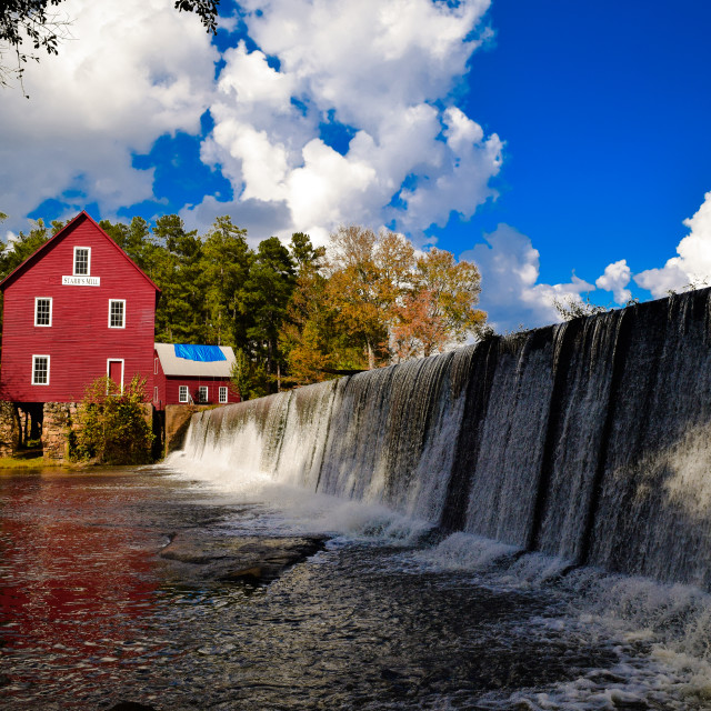 """Starr's Mill Waterfall"" stock image"