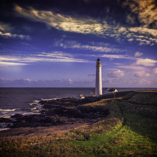 """""""Scurdie Ness Lighthouse"""" stock image"""