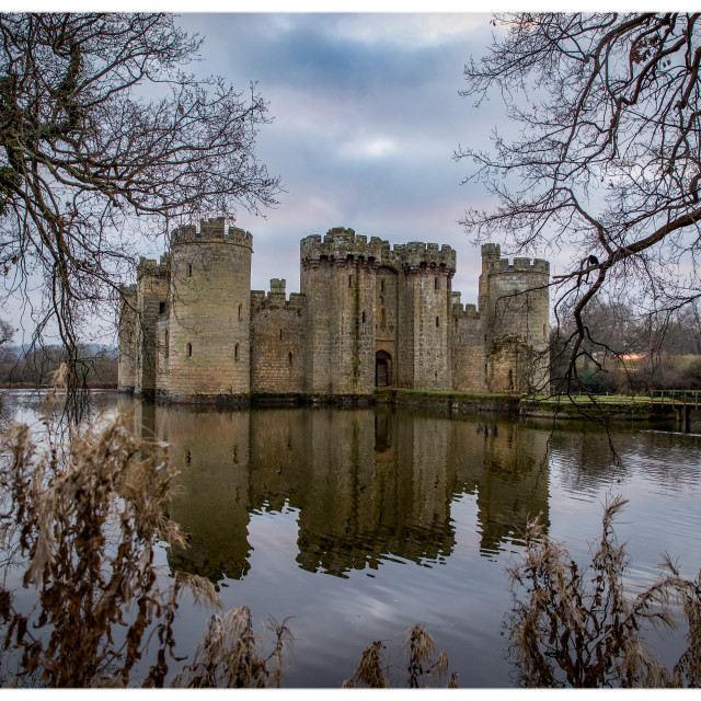 """Bodiam Castle, East Sussex"" stock image"