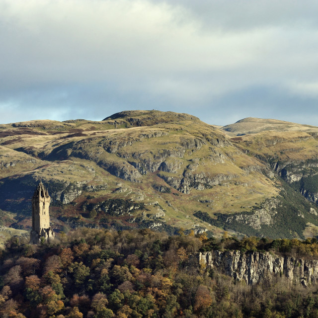 """The National Wallace Monument, Stirling, Scotland"" stock image"