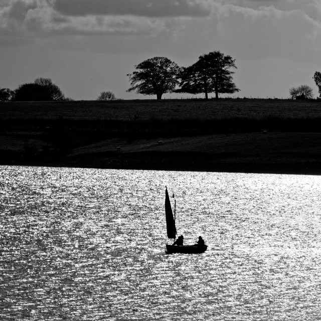 """Sailing on Rutland Water"" stock image"