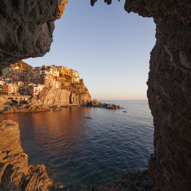 """Manarola-The cave"" stock image"