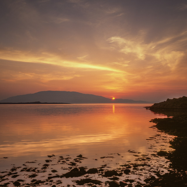 """Sunset over Jura"" stock image"