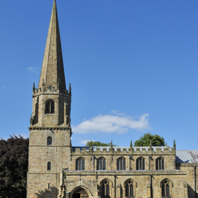 """St Mary's Church, Masham,"" stock image"