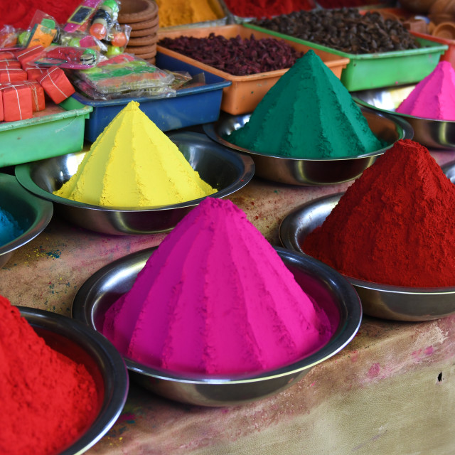 """Colours of India"" stock image"