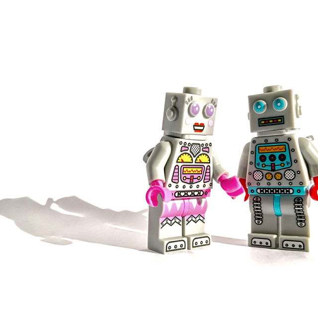 """Robot love"" stock image"