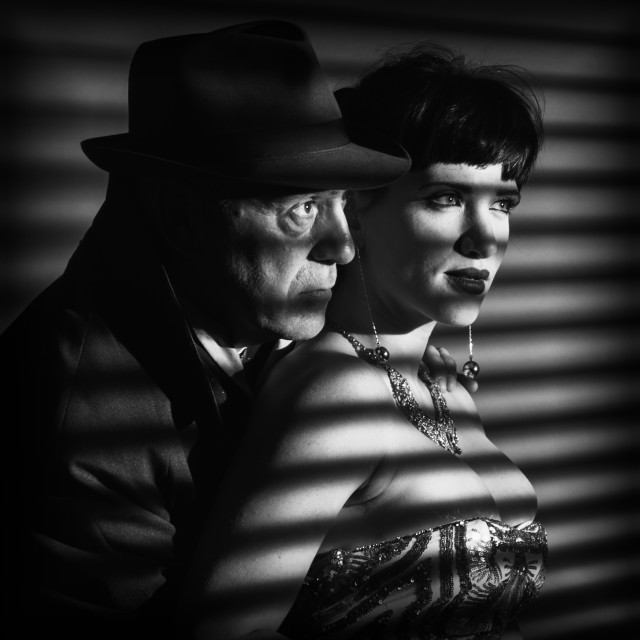 """Film Noir Couple"" stock image"