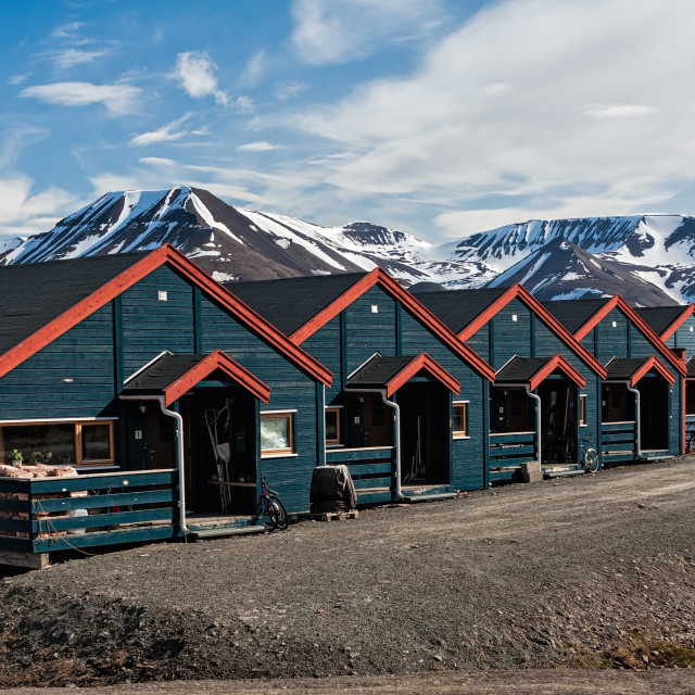 """Houses in Longyearbyen, Norway"" stock image"