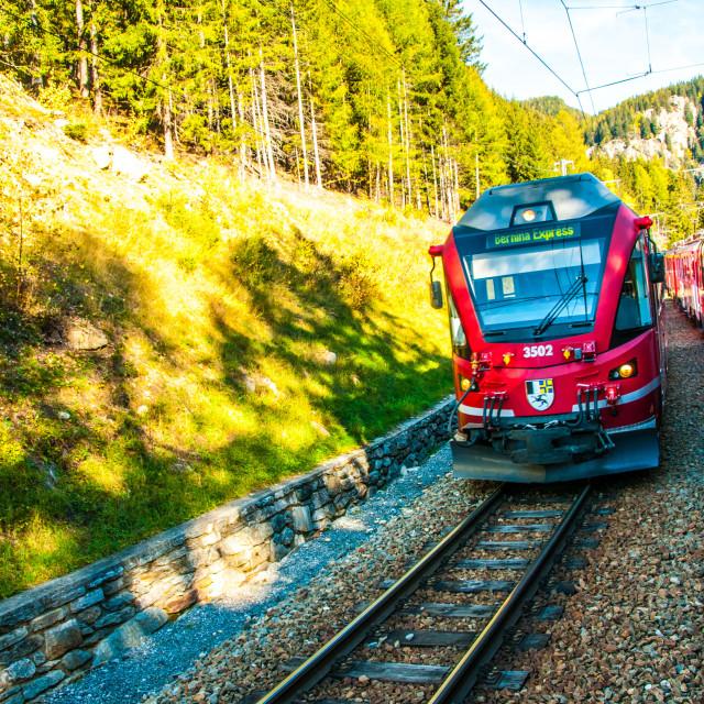 """""""The Bernina Express"""" stock image"""