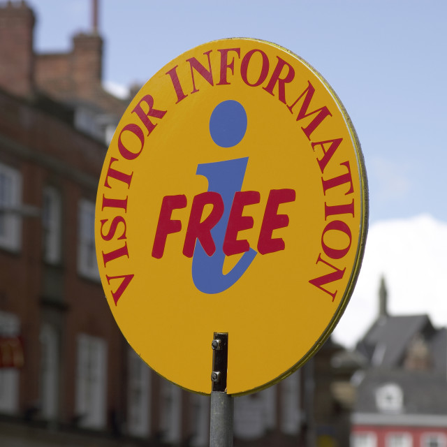 """""""Visitor Information sign in York"""" stock image"""