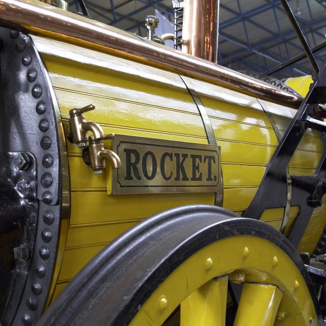 """""""George stephensons rocket"""" stock image"""