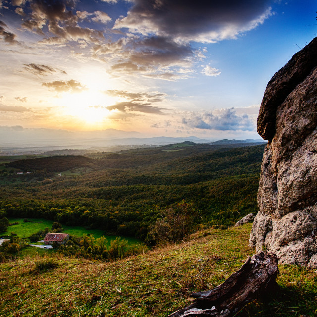 """Sunset from the mountain"" stock image"
