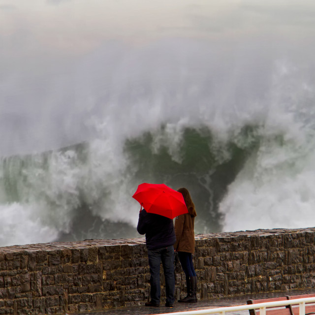 """Swell in the Cantabrian Sea"" stock image"