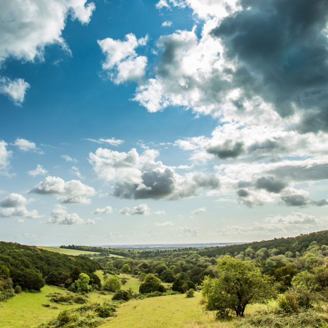 """English country-side vista"" stock image"