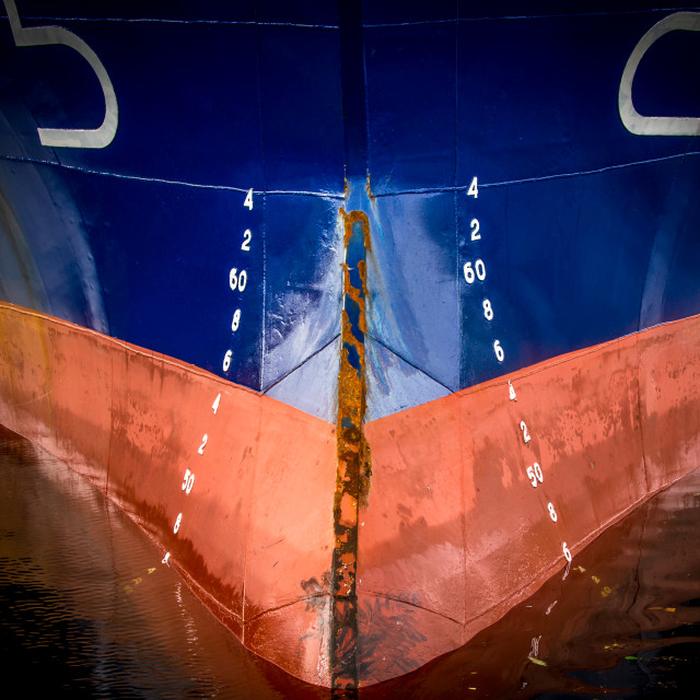 """ships bow"" stock image"
