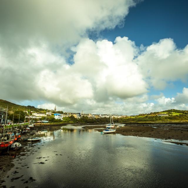 """""""Clifden harbour, Galway. Ireland"""" stock image"""