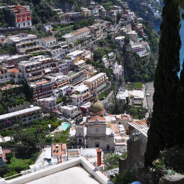 """""""view of Positano"""" stock image"""