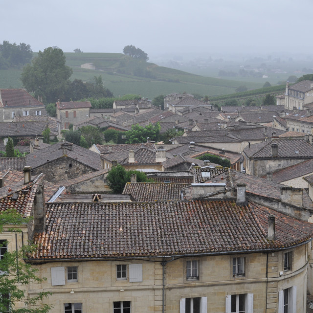 """""""medieval village Saint-Emilion"""" stock image"""
