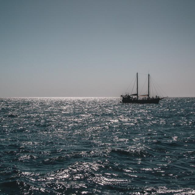 """""""Sunshine sailing"""" stock image"""
