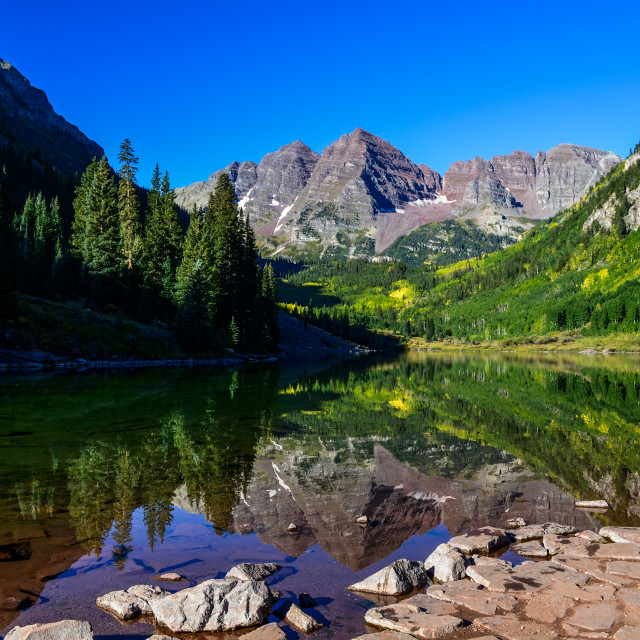 """Maroon Bells Reflection"" stock image"