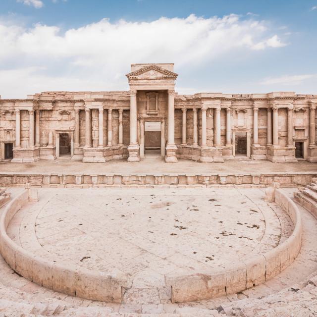 """Roman Theater. Palmyra, Syria"" stock image"