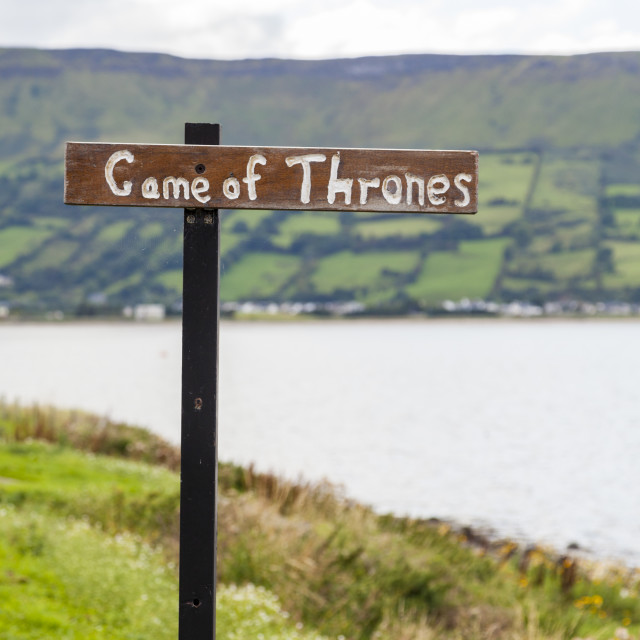 """Game of Thrones sign"" stock image"