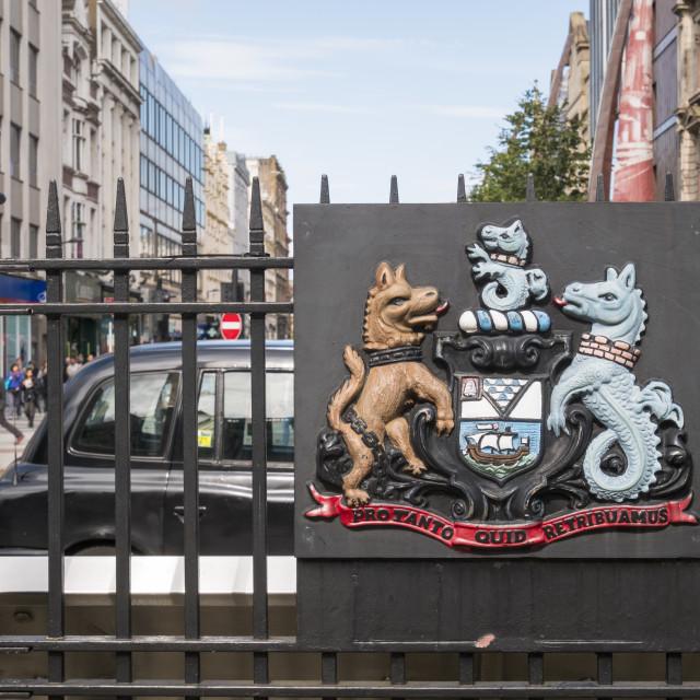 """Belfast Coat of Arms"" stock image"