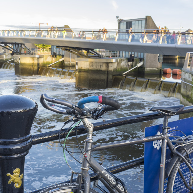 """Lagan Weir"" stock image"