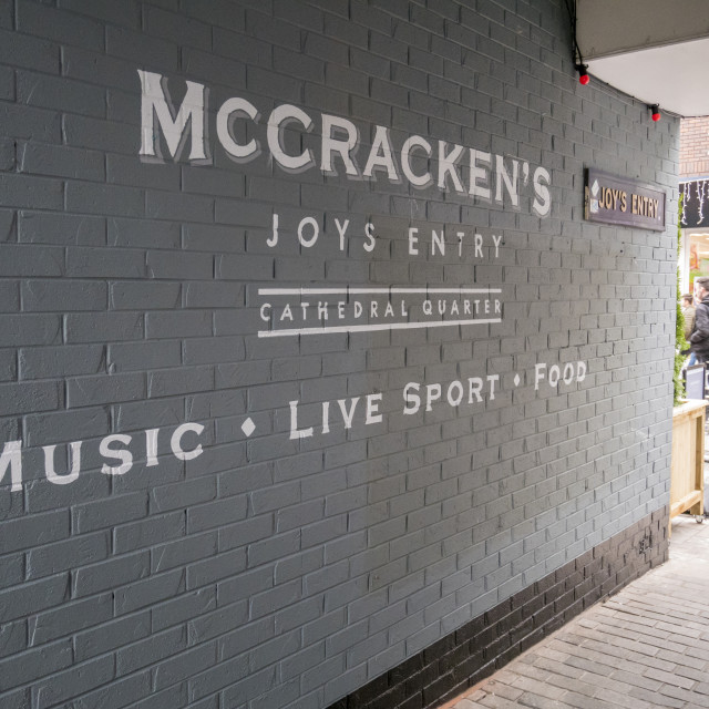 """Joys Entry, Belfast"" stock image"