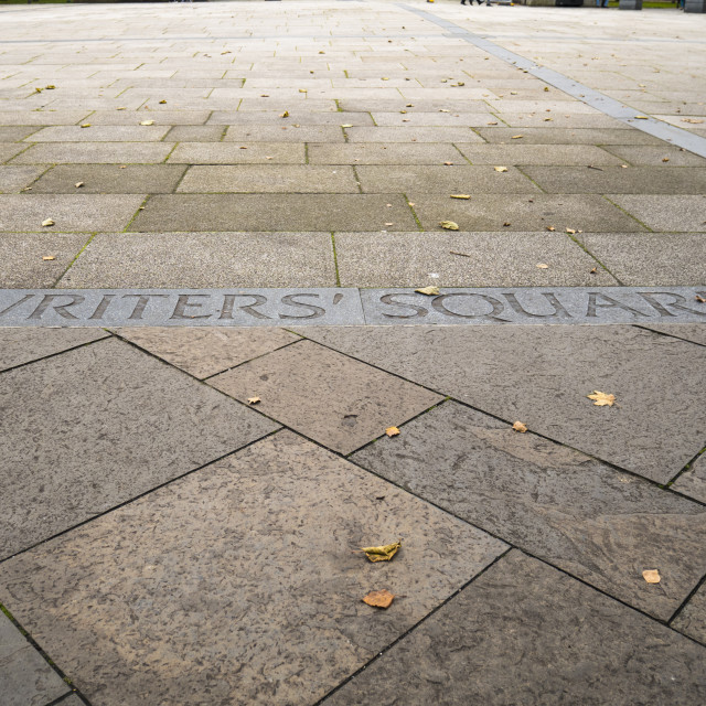 """Writers' Square"" stock image"
