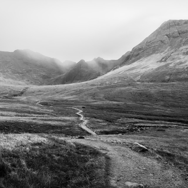 """Trail To Fairy Pools"" stock image"
