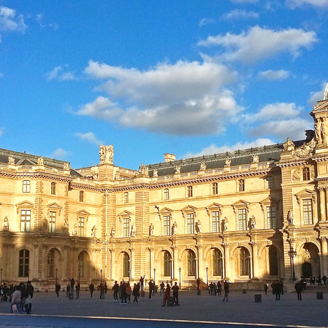 """Evening Light at The Louvre"" stock image"