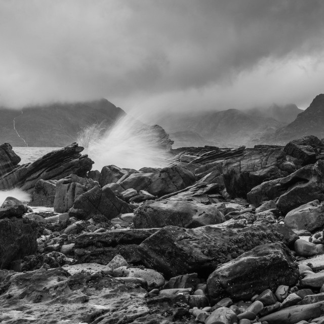 """Elgol beach"" stock image"