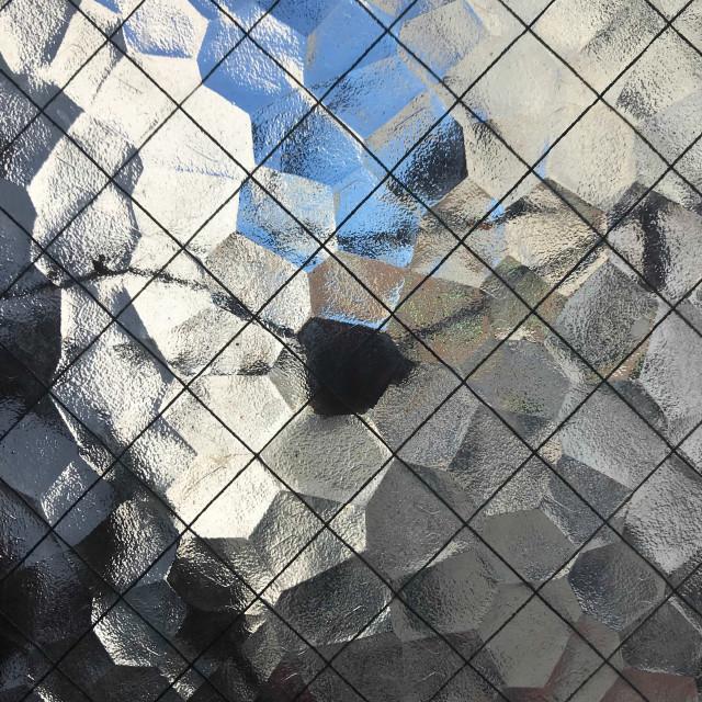 """View Through Textured Glass Window"" stock image"