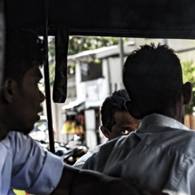 """""""Galle Sri Lanka 2017 tuk tuk drivers"""" stock image"""