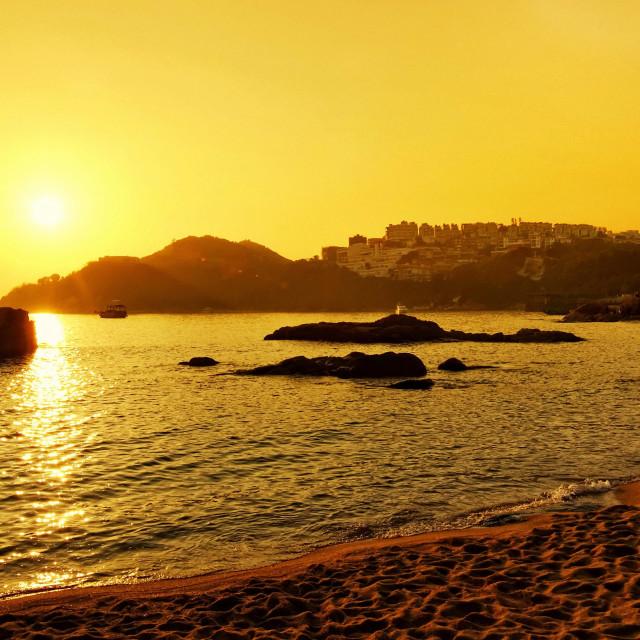 """Stanley Beach Hong Kong"" stock image"