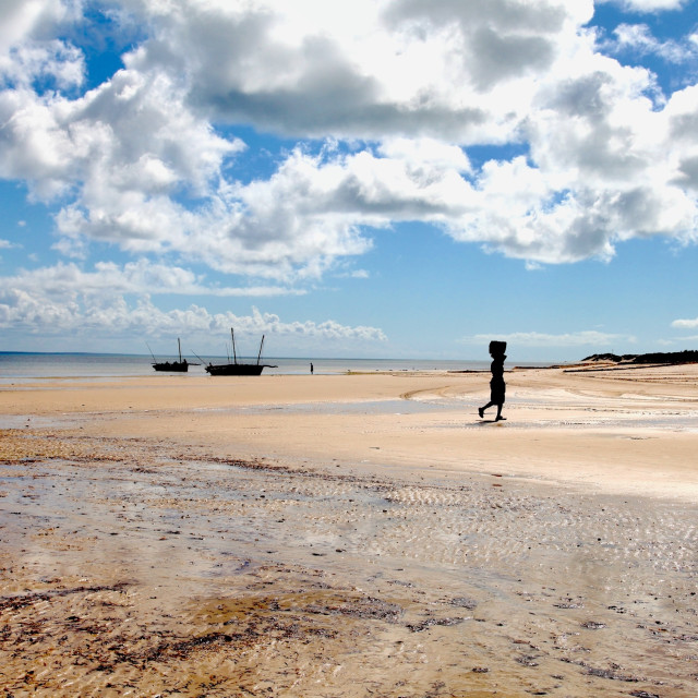 """Silhouette - Benguerra Island"" stock image"