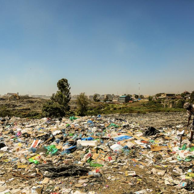 """""""Wasteland - Korogocho"""" stock image"""