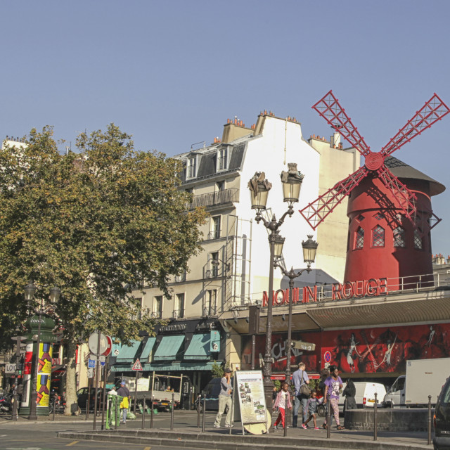 """Moulin Rouge"" stock image"