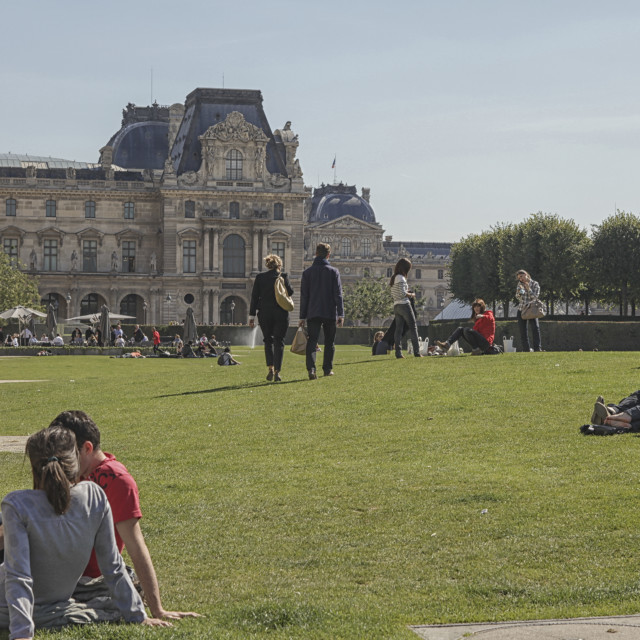 """Outside the Louvre"" stock image"