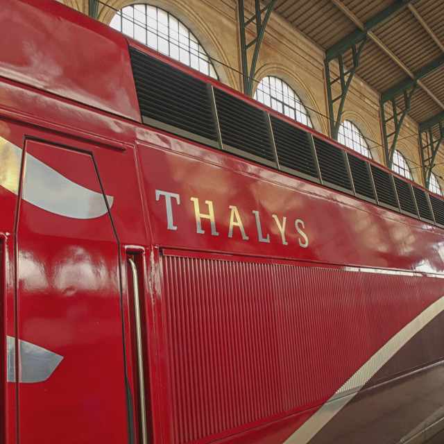 """Thalys high speed train in Paris"" stock image"
