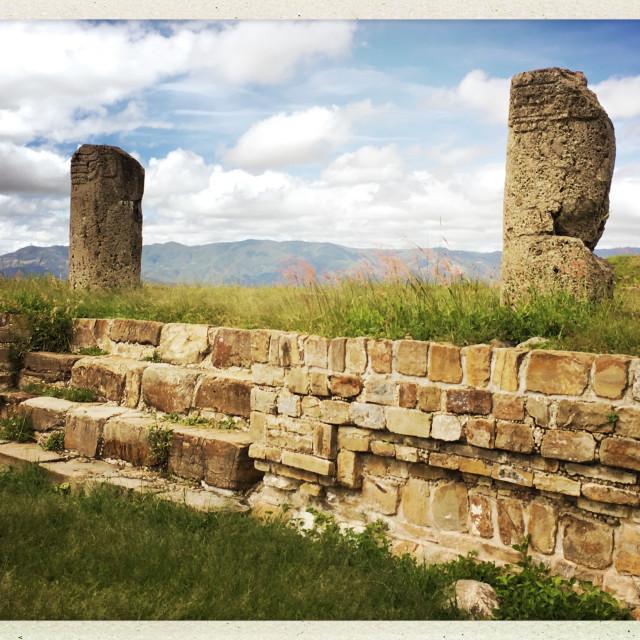 """View of Monte Albán, Mexico"" stock image"